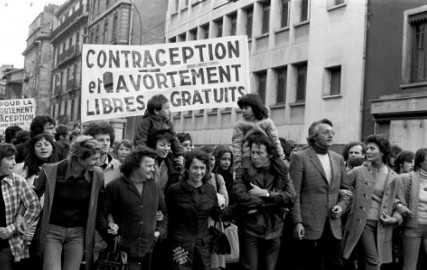 Protest for free contraception 1972 1